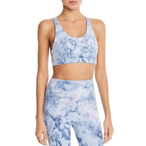 Electric & Rose Womens Sports Bra Tie-Dye Racerback - Blue - S
