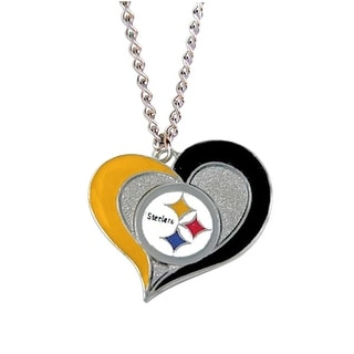 Pittsburgh Steelers NFL Swirl Heart Necklace