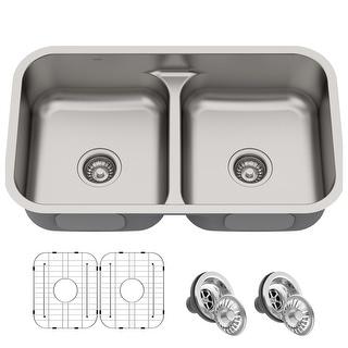 Link to KRAUS Premier Stainless Steel 32 inch 2-Bowl Undermount Kitchen Sink Similar Items in Sinks