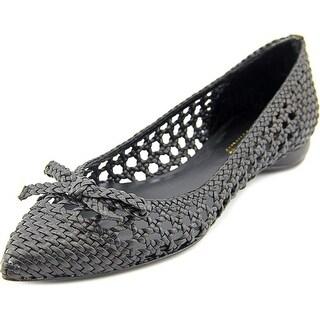 Delman Shana Women Pointed Toe Leather Flats