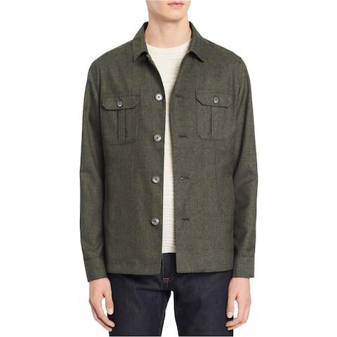 Calvin Klein Mens Military Shirt Jacket
