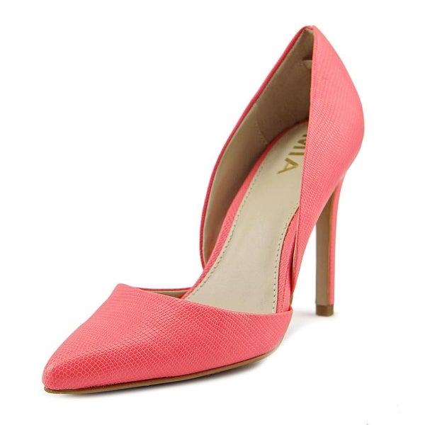 Mia Margo Women Coral Lizard Pumps