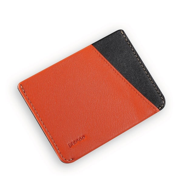 Ikepod Micro Slim Card Wallet (Orange of 4 Color) [Italy Made//Top Leather] - Orange