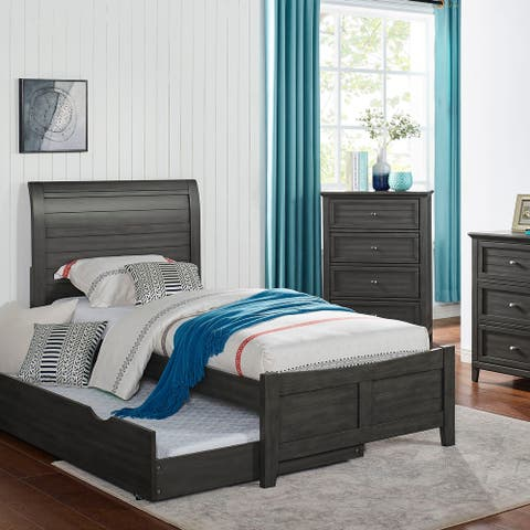 Furniture of America Wese Transitional Grey Solid Wood Bed
