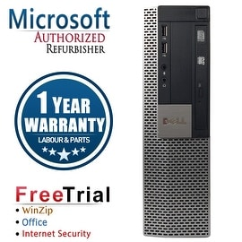 Refurbished Dell OptiPlex 980 SFF Intel Core I5 650 3.2G 4G DDR3 250G DVD WIN 10 Pro 64 Bits 1 Year Warranty