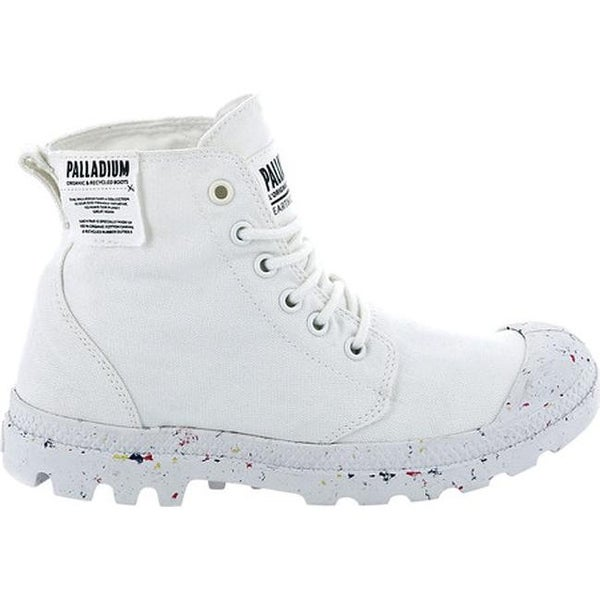 2864b027fe6 Palladium Women's Pampa Hi Organic Ankle Boot Star White Organic Canvas