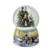 "6"" Christmas Carolers Winter Scene Musical Water Snow Globe"