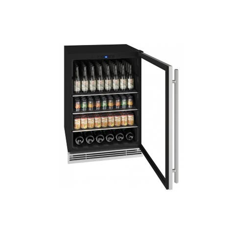 Beverage Center 24 In Reversible Hinge Stainless Frame 115v