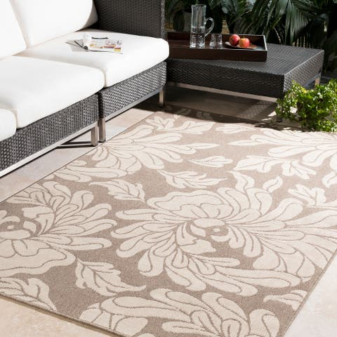 Copper Grove Flores Contemporary Floral Indoor/ Outdoor Area Rug