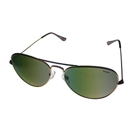 Timberland Sunglass Mens Gold Metal Aviator, Solid Green TB7075 32N