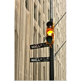 """Wall street traffic light"" Poster Print"