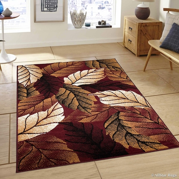 Shop Allstar Burgundy Area Rug Contemporary Abstract