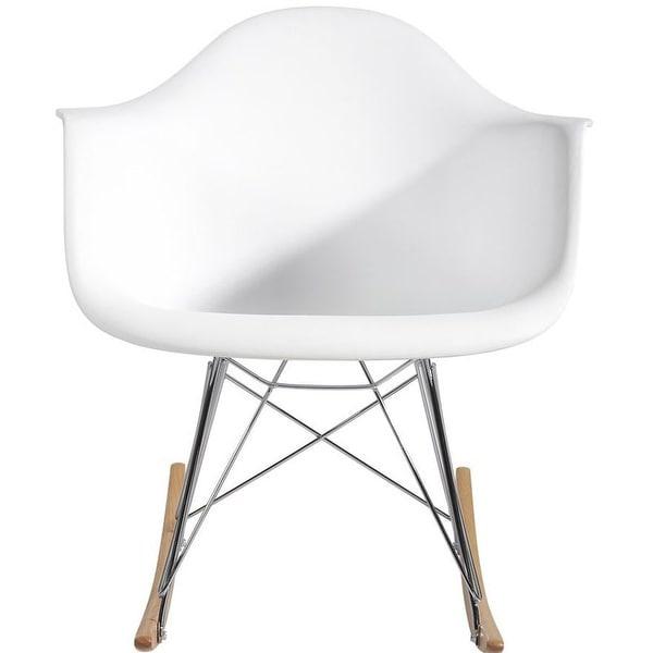 Modern Molded Plastic Chair with Steel Eiffel Legs. Opens flyout.