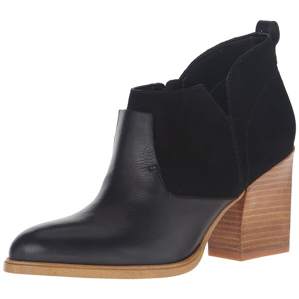Marc Fisher Womens Ginger Pointed Toe Ankle Chelsea Boots, Black, Size 11.0