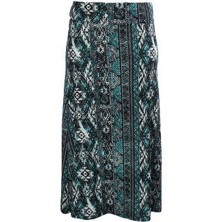 Hot Kiss Womens Juniors Maxi Skirt Matte Jersey Printed - XL