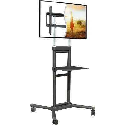 Doublesight Ds-5070Ct Mobile Tv Cart 32-70 Inch 132 Lbs Adj Height With Shelf Lifetime