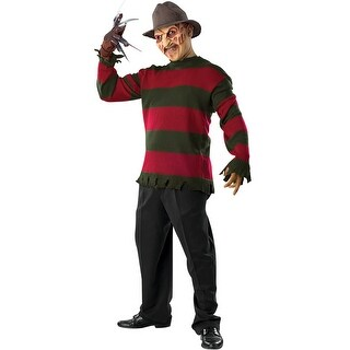 Rubies Freddy Deluxe Knit Sweater Adult Costume - Red/Green