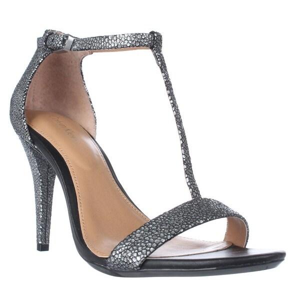 Calvin Klein Nasi T-Strap Dress Sandals, Shadow Grey - 7.5 us / 37.5 eu