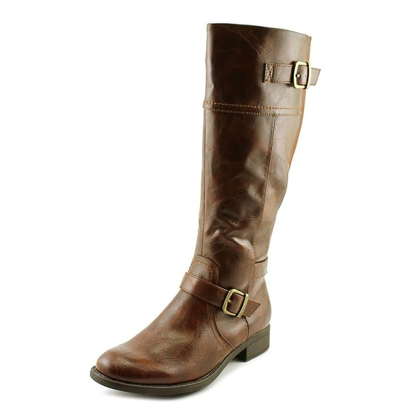 Kim Rogers Rikki Women Round Toe Leather Brown Boot