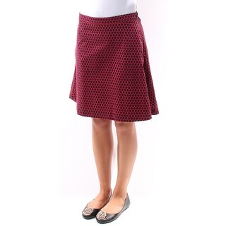 Womens Red Polka Dot Casual Skirt Size XS