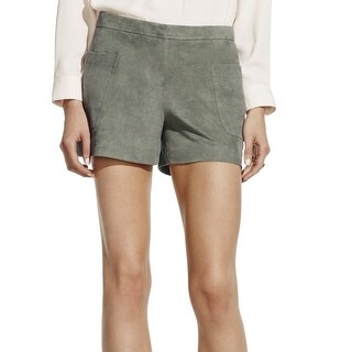 Vince Camuto NEW Green Women's Size 12 Faux-Suede Mis-Rise Shorts