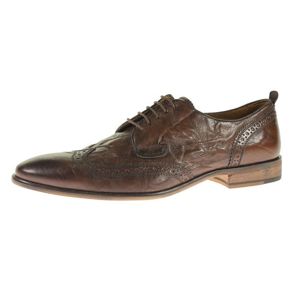 Steve Madden Mens Analyst Derby Shoes Leather Wingtip