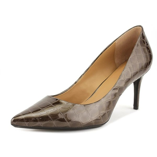 Calvin Klein Gayle Women Pointed Toe Synthetic Brown Heels