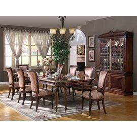Regency Rectangle Dining Table with 8 legs - Brown