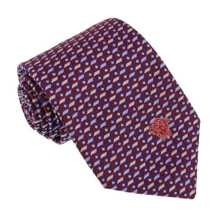 Versace Red/Blue Woven Cubic Tie