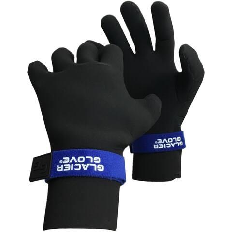 Glacier Glove Perfect Curve Waterproof Fleece-Lined Neoprene Gloves - Black