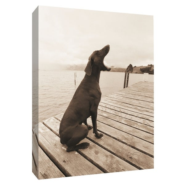 """PTM Images 9-154952 PTM Canvas Collection 10"""" x 8"""" - """"Shout for Joy"""" Giclee Dogs Art Print on Canvas"""