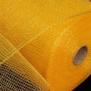 """Yellow Gold Deco Mesh Craft Ribbon 6.5"""" x 120 Yards"""