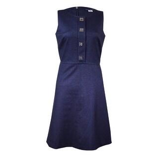 Tommy Hilfiger Women's Turnkey Denim A-Line Dress - INDIGO