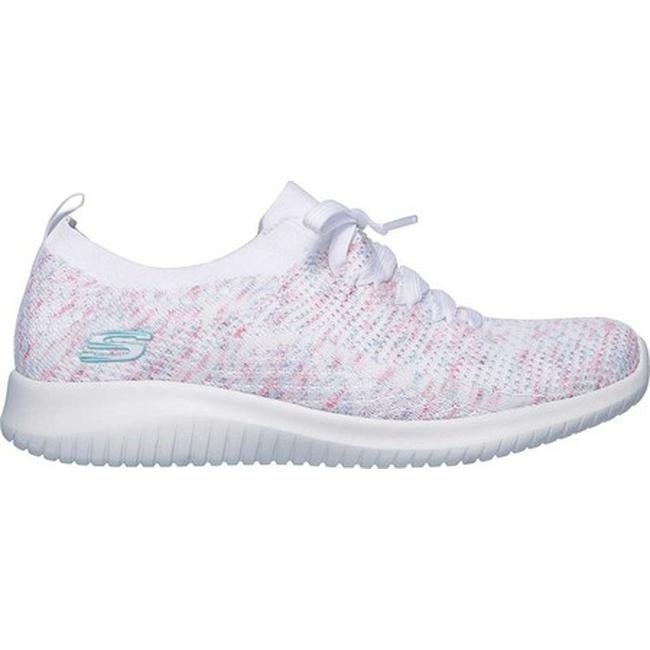 uk billig verkaufen moderne Techniken ein paar Tage entfernt Skechers Women's Ultra Flex Happy Days Sneaker White/Pink/Blue