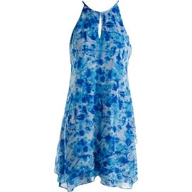Calvin Klein Womens Halter Printed Party Dress