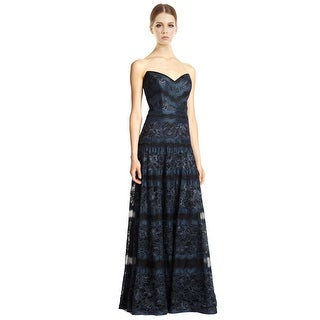 Tadashi Shoji Rachel Strapless Lace Evening Gown Dress - 8
