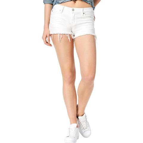 Hudson Womens Kenzie Cutoff Shorts Denim Frayed Hem