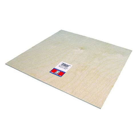 """Midwest Products 5334 Aircraft Grade Birch Craft Plywood, 1/2"""" x 6"""" x 12"""""""