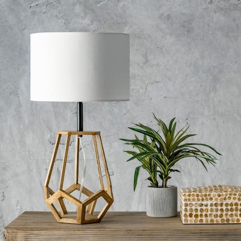"nuLOOM Chelsea 23"" Modern Natural Wood Table Lamp"