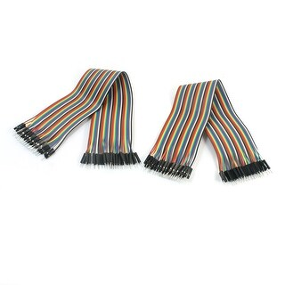 Unique Bargains 80pcs 2.54mm Pitch 1Pin-1Pin M/M Breadboard Jumper Cable Wire Connector 30cm