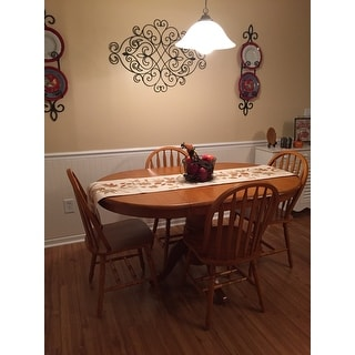 Simple Living Farmhouse 5 Or 7 Piece Oak Dining Set