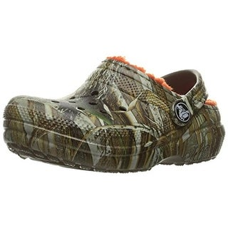 Crocs Boys Classic Realtree Max 5 Clogs Camouflage Faux Fur