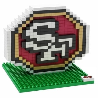 San Francisco 49ers 3D NFL BRXLZ Bricks Puzzle Team Logo
