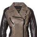 Laundry Women's Genuine Lamb Leather Motorcycle Jacket - Thumbnail 2