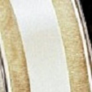 """Champagne Colored Satin Center Organdy Margaritte Craft Ribbon 1"""" x 60 yards"""