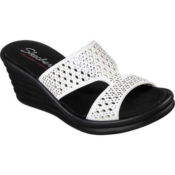 e41e5416f257 Shop Skechers Women s Rumblers Wave Ibiza Summer Slide Sandal White ...