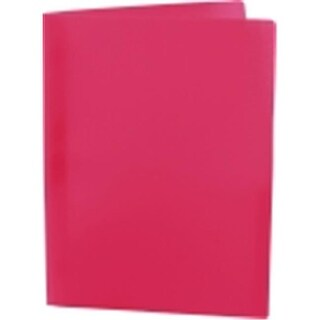 8.5 x 11 in. Eco Plastic Recycled Report Cover With Prongs, Red