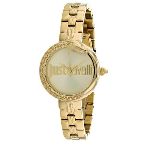 Just Cavalli Women's Animalier Gold Dial Watch - JC1L097M0075 - One Size