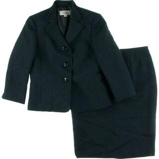 Le Suit Womens Jacquard 2PC Skirt Suit - 4