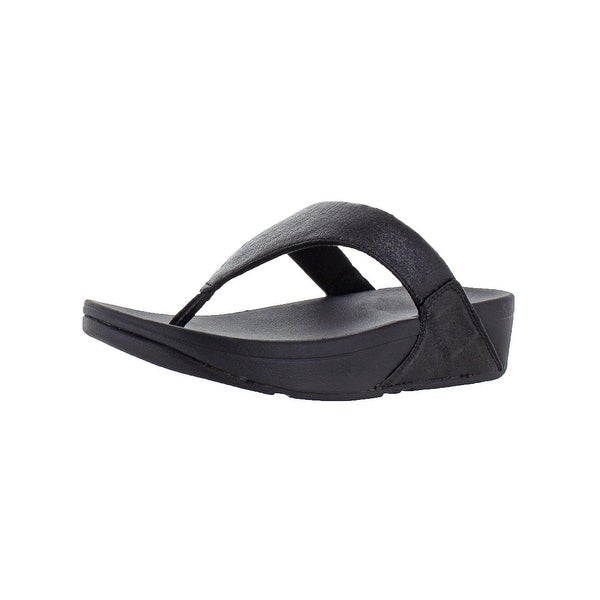cb4fbfaa6b3b Shop Fitflop Womens Lulu Glitzy TP Thong Sandals Leather Shimmer ...